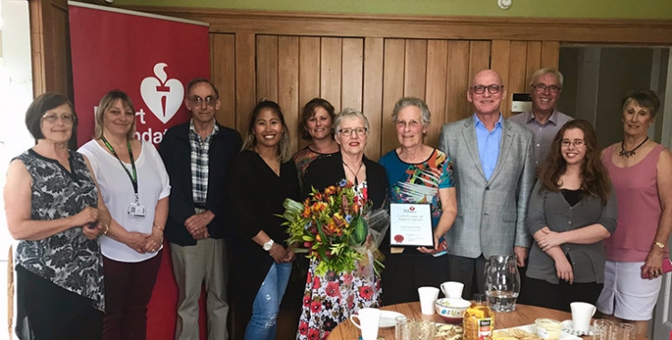 Heart Foundation volunteer, Pauline, retires