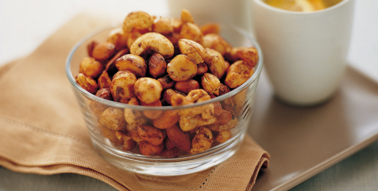 chilli soy roasted cashews and almonds