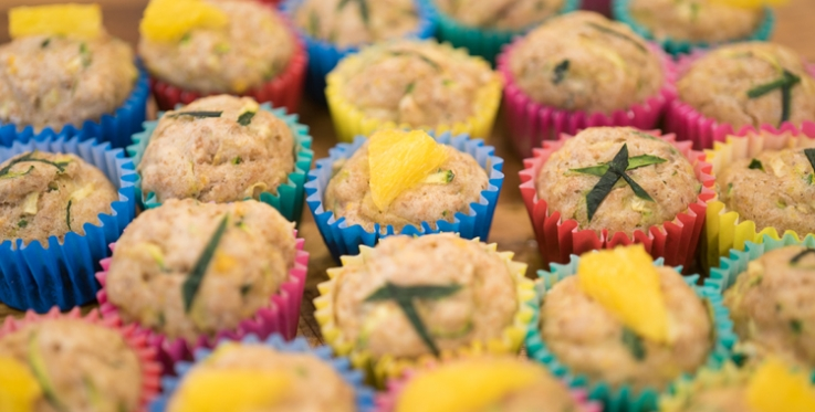 Zesty courgette muffins