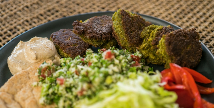 Falafel and salad