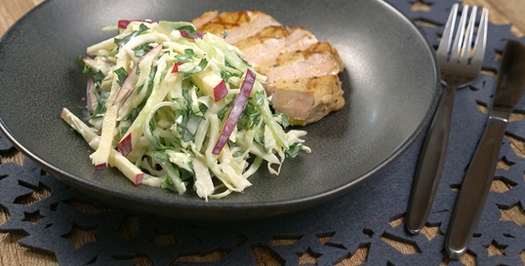 Fennel, apple and cabbage coleslaw