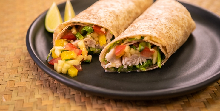 Fish wrap with pineapple salsa