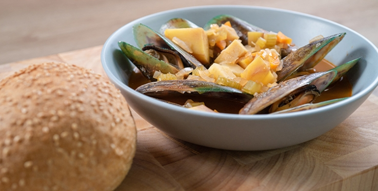 Mussel and kumara stew