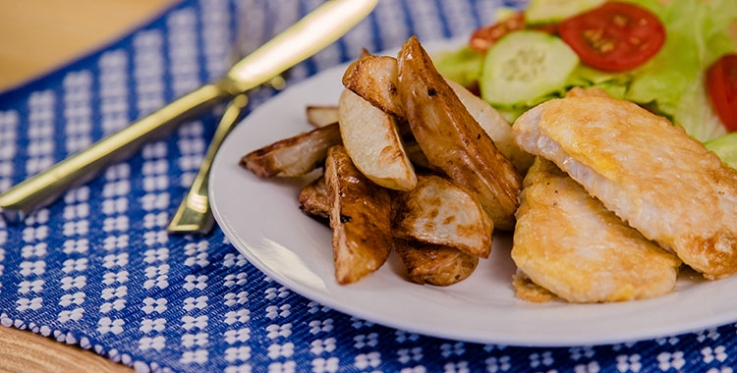 Delicious oven baked potato wedges recipe