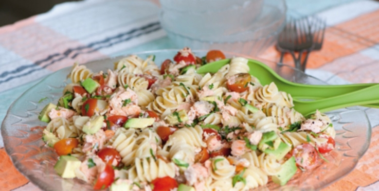 Healthy salmon pasta recipe