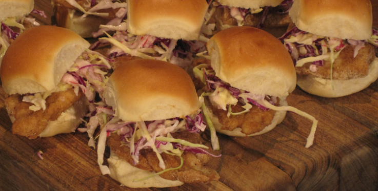 How to make fish sliders