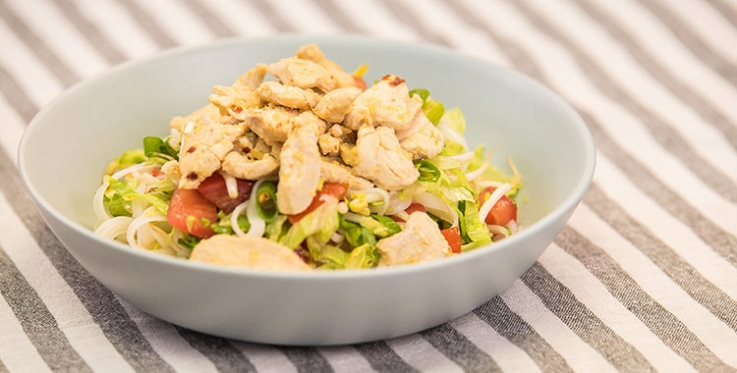Thai chicken, vegetable and noodle salad
