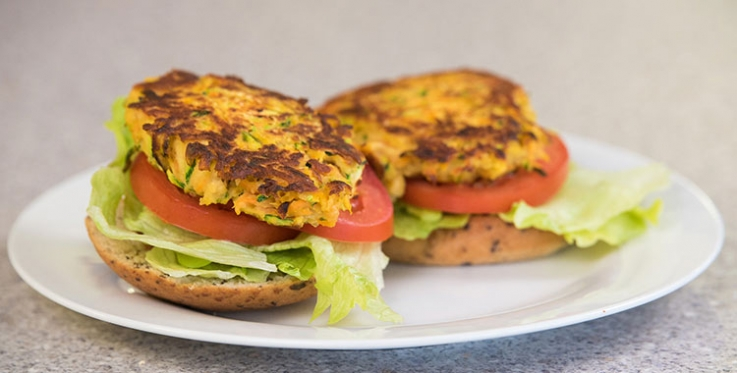 healthy vegetable and bean burger recipe