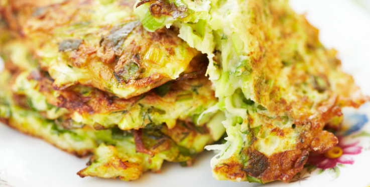 Courgette fritter recipe