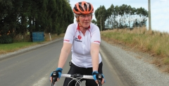 Cyclist with a heart condition