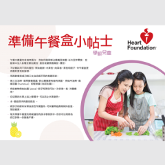Healthy lunchbox ideas for kids - chinese poster