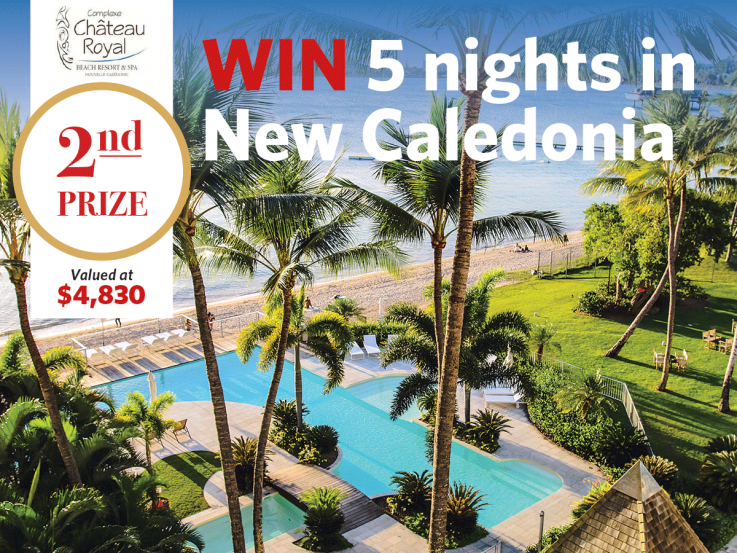 Win a holiday to New Caledonia with a Lottery No.111 ticket.