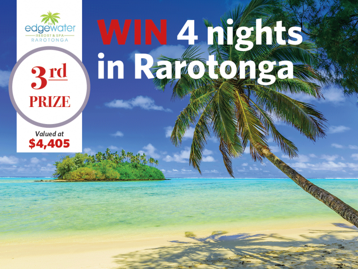 Win a 4 night holiday in Rarotonga with Heart Foundation Lottery No.113