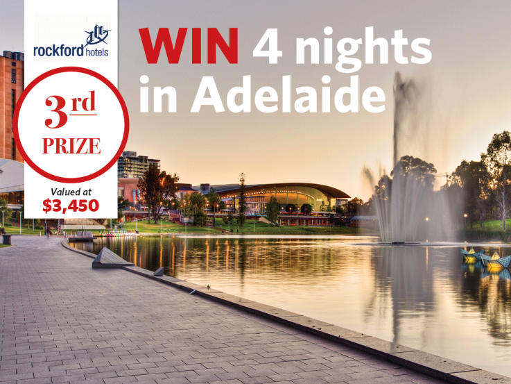 3rd prize Lottery No.115 - win 4 nights in Adelaide