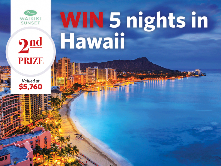 2nd prize - Win five-nights in Hawaii with Heart Foundation Lottery No.120