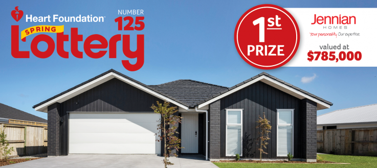 Heart Foundation Lottery 125. First prize Jennian dream home.