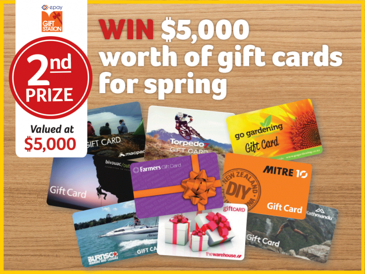 Heart Foundation Lottery No.125. 2nd prize is $5000 of prezzy card vouchers.