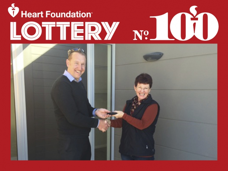 Lottery No. 100 Queenstown 1st prize winner, Deb Maloney