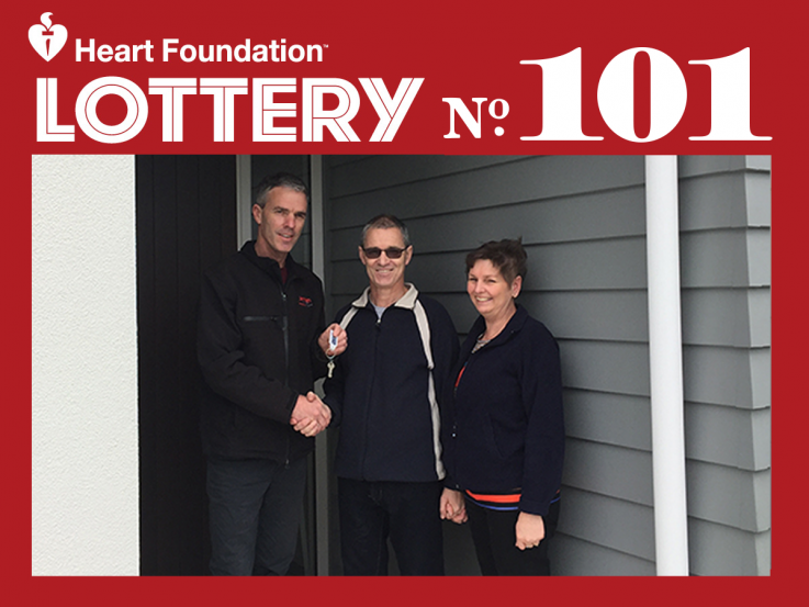 Heart Foundation Lottery No. 101 Taupo 1st prize winner, David
