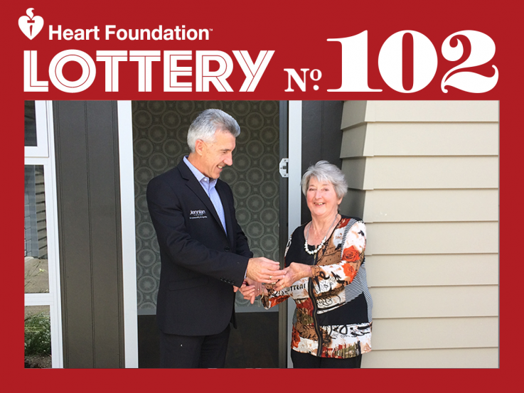 Heart Foundation Lottery No. 102 Motueka 1st prize winner, Monica Storey
