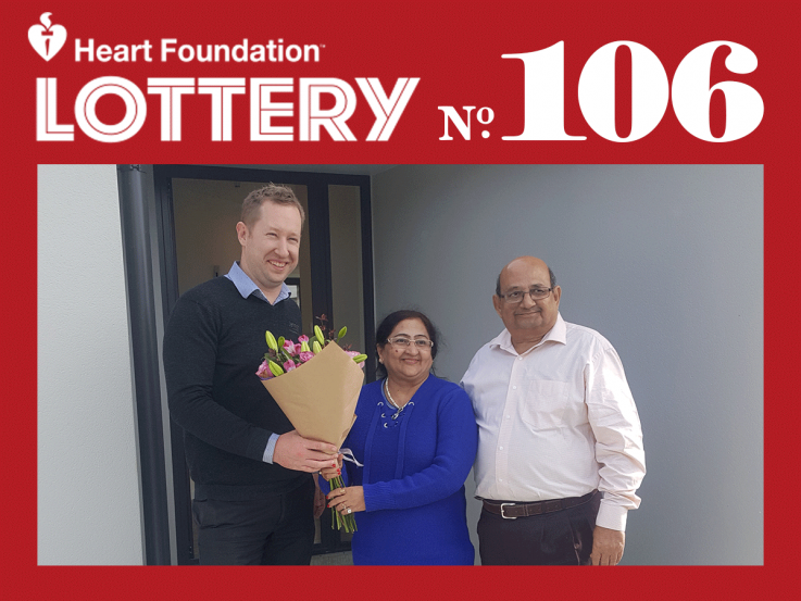 Lottery No. 106 Queenstown 1st prize winner Harishchandra Gandhi
