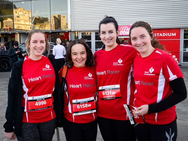 Heart Racers at the Wellington Marathon