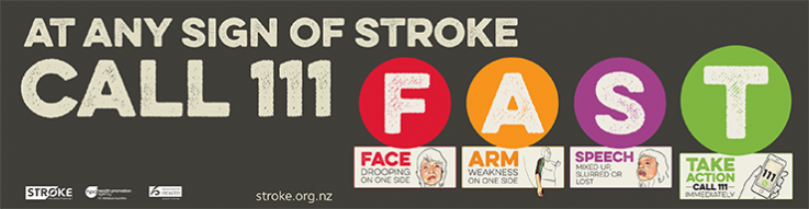 Signs of a stroke: face drooping, arm weakness, slurred speech, time to call 111.