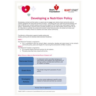 Developing a school nutrition policy