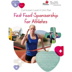 Fast Food Sponsorship for Athletes unit plan for teachers