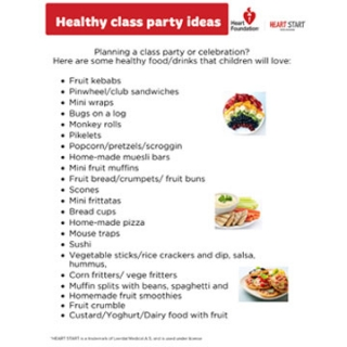 Ideas for healthy class party foods