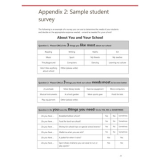 School needs analysis toolkit