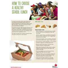 Choosing a healthy school lunch