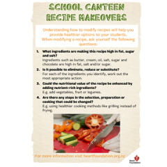 School canteen recipe makeovers