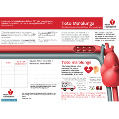 Find out what blood pressure is and how it affects your heart in Tongan