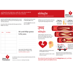 Cholesterol pamphlet in Hindi