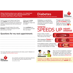 Diabetes and heart health resource