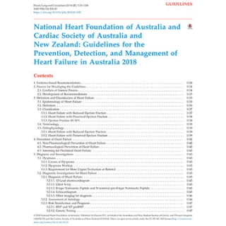 Heart failure guidelines 2018