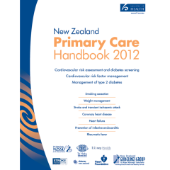 Front cover of the NZ Primary Care Handbook 2012
