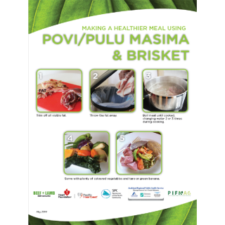 How to make a healthier povi or pulu masima